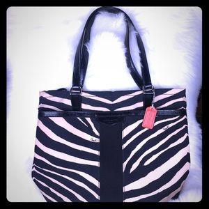 Coach Signature Zebra Tote Bag